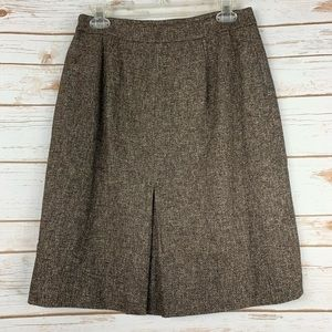 Ann Taylor skirt size 6 petite cotton wool blend